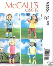 M6904 18 Inch Doll Clothes/Outfits New Sewing Pattern Mcalls 6904