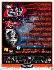 Vans Warped 2010 Portland Tour Poster: Everclear,Reel Big Fish,Sum 41,Anti-Flag