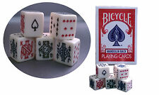 Bicycle Mandolin Back Poker 809 Playing Cards with 5 Pack Poker Dice Set Game