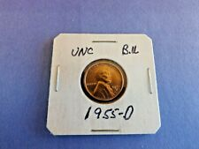 COIN= ONE Vntg 1955-D LINCOLN WHEAT COPPER CENT IN UN CIRCULATED B.U. CONDITION