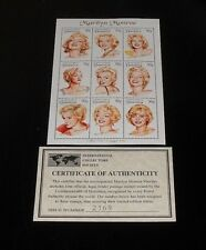 1994, DOMINICA, MARILYN MONROE, LIMITED EDITION, SHEET/9, MNH, W/COA