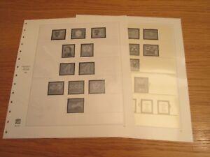 SAFE dual Nachtrag / Vordruckblätter BRD 1960 S. Nr. 18-19 gebraucht!!! (1258)