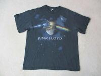 Pink Floyd Dark SIde Of The Moon Concert Shirt Adult Large Black Rock Band Men *