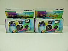 TWO 2 X Fuji Quicksnap Flash 27exp SINGLE USE Camera - Holidays, Weddings, Trips