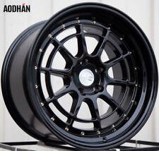 Aodhan AH04 18x10.5 +25  5x114.3 Black Genesis GS300 Lancer Mazda3 TC Wide Body