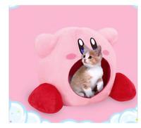 Kirby Pet Dog Bed Dog Cat Sleeping Bag Kawaii 50 Cm Winter House Cute Kitten