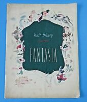 1940 ORIGINAL VINTAGE FANTASIA MOVIE PROGRAM ~ Walt Disney