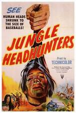 JUNGLE HEADHUNTERS Movie POSTER 27x40