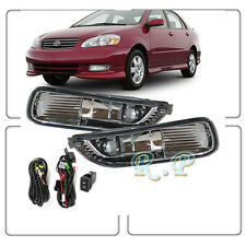 Fog Lights Bumper Lamps Kit OE Style Clean Fits 2003 2004 Toyota Corolla FL7004