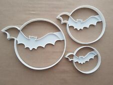 Bat Moon Halloween Shape Cookie Cutter Dough Biscuit Pastry Fondant Sharp