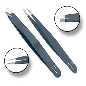 Sharp Stainless Steel Eyebrow Plucking Hair Removal INGROWN Beauty Tweezers Kit