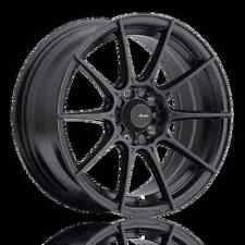 17X9 Advanti Racing Storm S1 5X100 +45 Matte Black Wheels (Set of 4)
