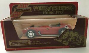 Matchbox Model Of Yesteryear Grand Prix Racer #17 Y-16/1960 Ferrari Dino 246/V12