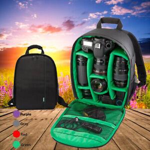 Rucksack Tasche Gepolstert Spiegelreflex-Kamera Zubehör Fototasche Grün Backpack