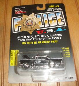 1957 CHEVY BEL AIR MILITARY POLICE USA RARE 1:64 SCALE DIORAMA DIECAST MODEL CAR