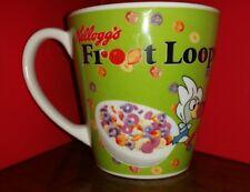 Vintage 2008 Kelloggs FROOT LOOPS, GREEN Cereal /Coffee Mug Cup
