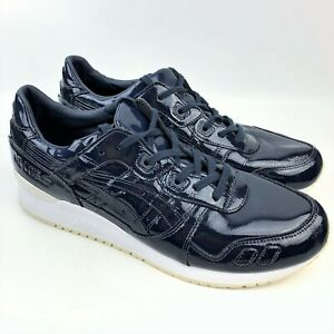 Asics Men's Gel Lyte III Patent Leather Fashion Sneakers H7H1L sz: US 13