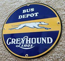 Greyhound Bus Depot Sign . gas oil gasoline garage