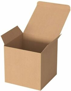 Brown Recycled Paper Gift Boxes - 3 x 3 x 3 Inch (20 pack)