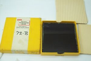 "KODAK WRATTEN DEEP RED 4X4"" SQUARE GLASS DROP IN MOTION PICTURE FILTER IN BOX"