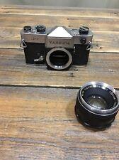 YASHINON-DX 1:1.7 f=50mm Original  M42 Screw Mount Lens W/ Yashica J7 Body