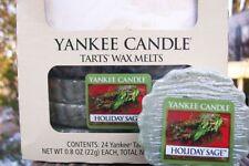 "Box Lot of 24 Yankee Candle ""HOLIDAY SAGE"" Festive Tarts Wax Melts"