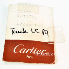 Cartier Ersatzglas Crystal Tank MINI Gelbgold , neue alte Originalware