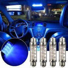 4pcs US 42mm 8LED Car C5W 239 Interior Festoon Dome Light Reading Lamp Bulb Blue