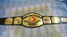 New NWA North American Championship Belt, Adult Size & Metal Plates