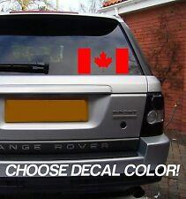 "Canadian Flag 8"" Vinyl Sticker Decal - Choose Color! bumper car window Canada"