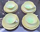 Branksome Fine English Porcelain 4 FLOWER Design Cup, Saucer, and Plate Sets MCM