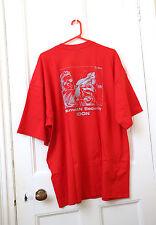 Da Uomo Rosso GILDAN T-shirt 3XL Big & Tall homelan sicurezza GORILLA... NUOVO