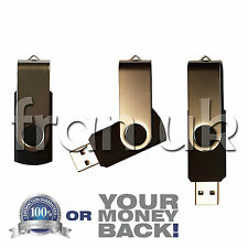 64GB Nero girevole USB 2.0 Flash Drive Memory Stick Pen Storage Device Disco UK
