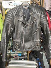 "Rare Vintage, Hand Painted 1970's Leather Jacket (TT For Suzuki?) Punk. 40"""