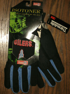 New Mens Isotoner winter gloves NFL Thinsulate L/XL Large XL Houston Oilers