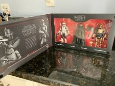 "DISNEYLAND STAR WARS GALAXY?S EDGE BLACK SERIES - THE FIRST ORDER 4 PACK 6"" NEW"