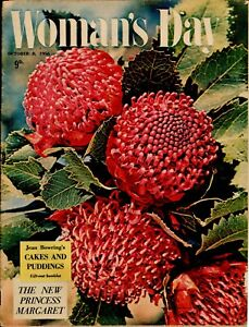 Woman's Day Australia October 8, 1956 - Rare 1950s Vintage Women's Magazine
