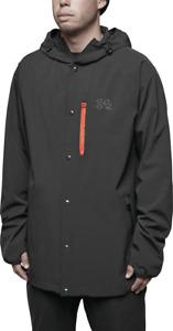 NWT MENS THIRTYTWO 4TS COMRADE SNOW JACKET $110 L black snap up front
