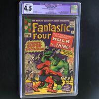 Fantastic Four #25 (1964) 💥 CGC 4.5 Restored 💥 Hulk vs Thing! Marvel Comic