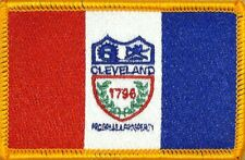 "E28 CLEVELAND Ohio SKYLINE Scene 3-5//8/"" Embroidery Iron-on Patch"