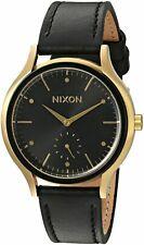 Nixon Sala Black Leather Watch / Gold & Balck / A995-513 / A995513 / A995 513