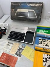 Texas Instruments TI-99/4A Home Computer In Original Box Controllers