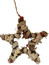 Hanging twig and berry Christmas star