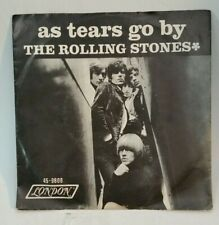 Rolling Stones London 9808 AS TEARS GO BY (R&R 45/PS)  PLAYS VG+