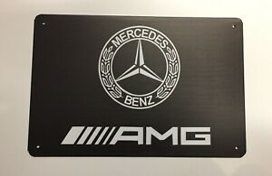 AMG Mercedes Benz Metal Tin Signs - Car Mechanic Workshop Man Cave Kompressor
