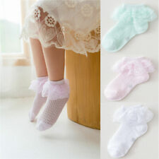 Kids Girls Socks Cute Baby Breathable Soft Lace Ruffles Socks Accessories