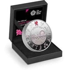 NUOVO 2012 GRANDE Britain Argento UK London Olympic PIEDFORT £ 5 Proof Coin box & COA
