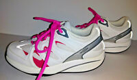 Sneakers MBT Shape Up Toning Rocker Womens Shoes Size 5 5.5 White Gray Pink