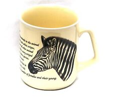 Zebra  Design Pottery China Mug Safari NEW FREE POSTAGE