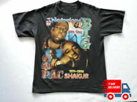 90s 2PAC Tupac Biggie Notorious BIG Rap Hip Hop T-shirt Wanted Makaveli K1111